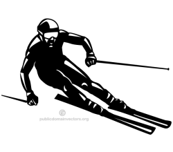 Skier Silhouette Vector Image
