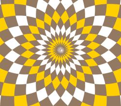 Flower Optical Illusion Vector Clip Art