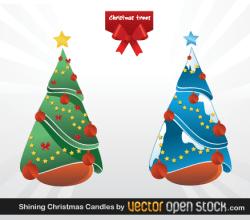 Christmas Trees Vector Graphics