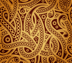 Vector Vintage Paisley Pattern Background Design
