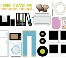 Household Items Vectors Free