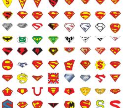 "72 Years of Superman ""S"" Logo Vector Art"