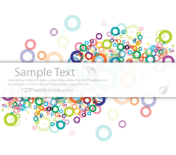 Vector Abstract Colorful Background Banner