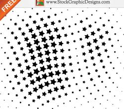 Free Vector Halftone Star Design Elements