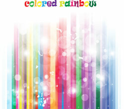 Colorful Abstract Rainbow Background Vector Free