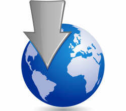 Vector Globe with a Silver Arrow