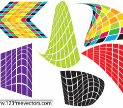 Warped Objects Free Vector
