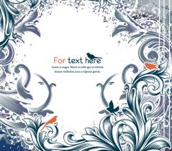 Free Vintage Floral Background Vector Illustration