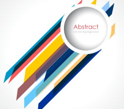 Abstract Lines Background with Circle Graphics