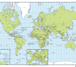 Vector World map with Capitals Free Download