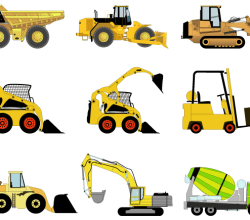 Construction Machines Vector Illustrator Pack 1