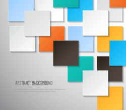 Colorful Square Blank Background Vector Image