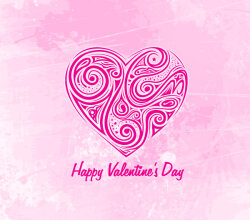 Hearts Valentines Day Background Image