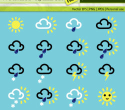 Free Weather Symbols Vector