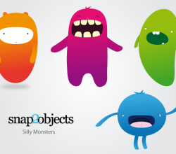 Vector Silly Monsters