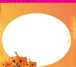 Halloween Greeting Card Vector Free