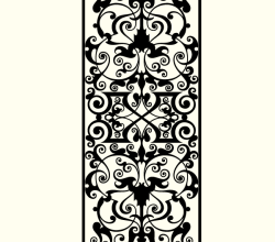 Marquetry Ornamental Design Free Vector