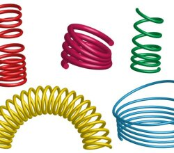 3D Coil Springs Vector Illustrator