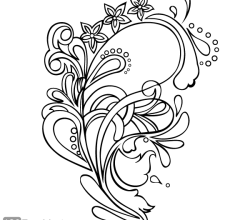 Floral Ornament Vector Graphics