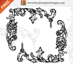 Hand Drawn Floral Corners Free Vector Elements