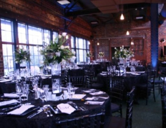 Pink Black And White Wedding Reception