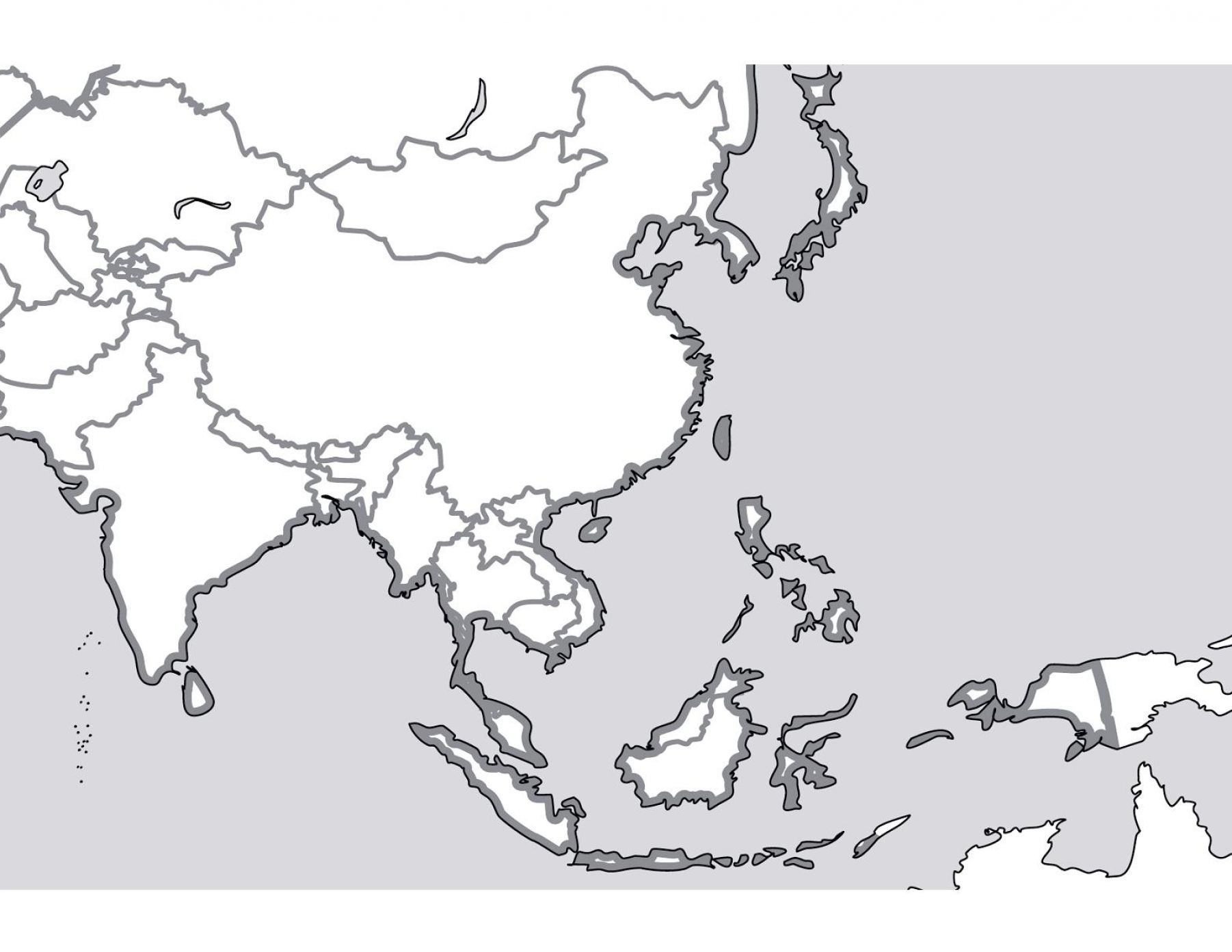 East Asia Blank Map Quiz