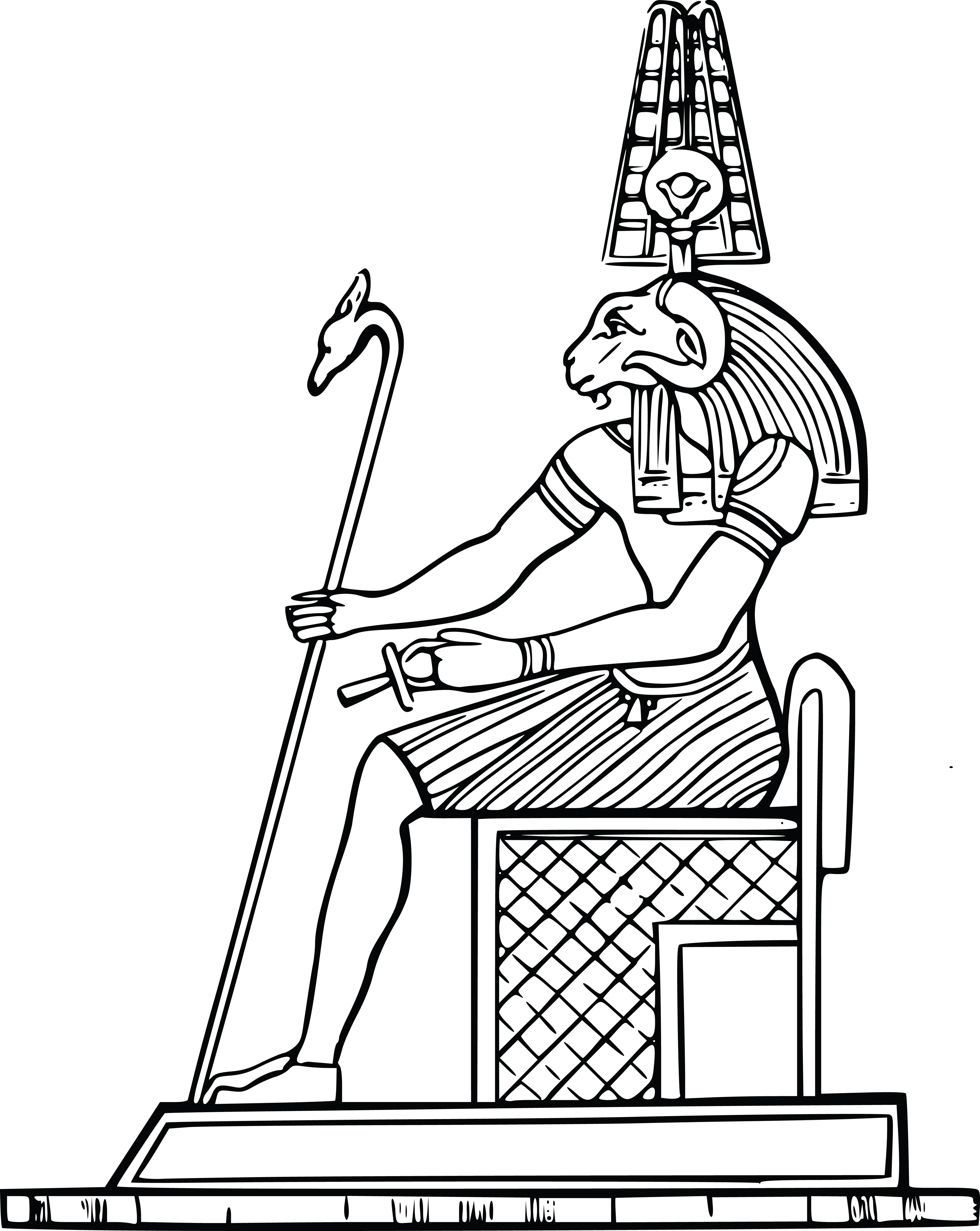 Free Clipart Of An Egyptian God