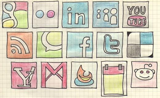 hand-drawn-social-media-icons