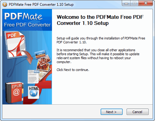 PDFMate Free PDF Converter 免費 PDF 轉檔軟體
