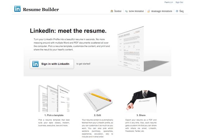 Resume Builder:把你的 LinkedIn 製作成英文履歷表,可線上分享、匯出成 PDF 格式