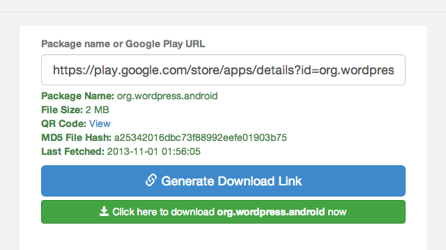 APK Downloader 直接從 Google Play 應用程式商店下載 Android APK 檔 via @freegroup