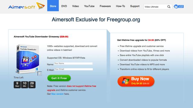 Aimersoft YouTube Downloader:網路影片下載器,可將影音轉檔為多種格式(限時免費)
