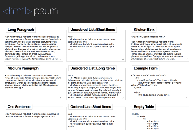 12. HTML-Ipsum