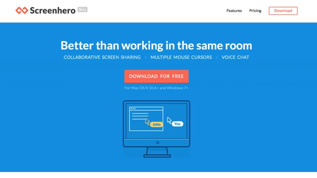 Screenhero 整合遠端桌面共用、多滑鼠游標、語音通話三大功能,多人協作的好幫手