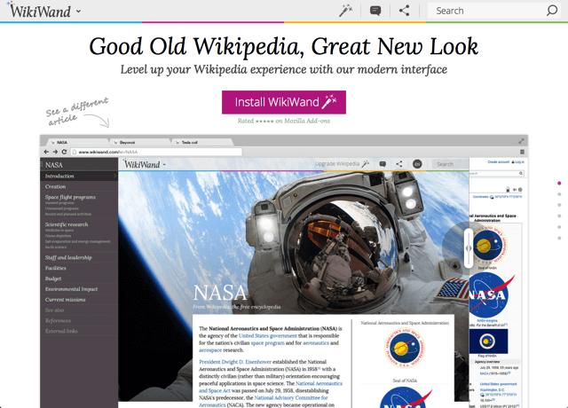 WikiWand 為維基百科換新衣,升級更優雅、美觀的全新閱讀體驗