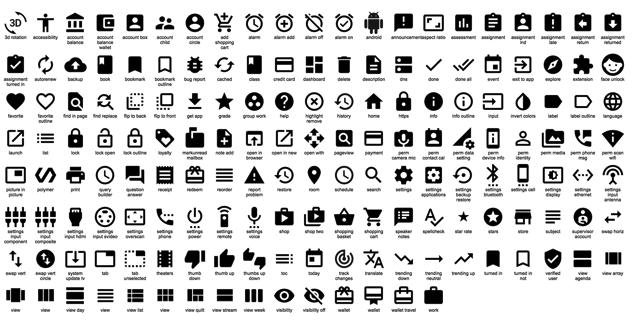 Google 釋出數百個 Material Design 圖示,可免費下載、使用