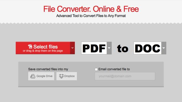 Convertio 免費線上轉檔服務,支援超過 45 種常用格式