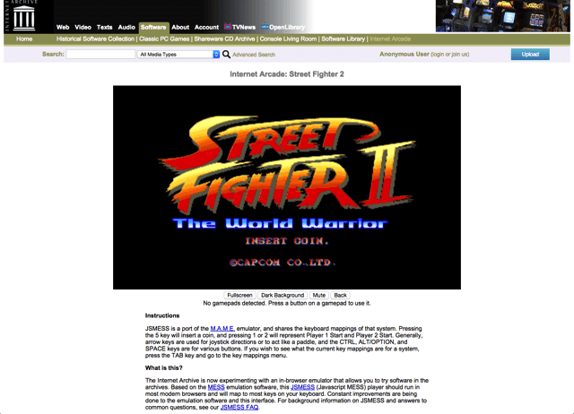 Internet Arcade 讓你重溫 900 種老式投幣街機電玩(大型機台模擬器)