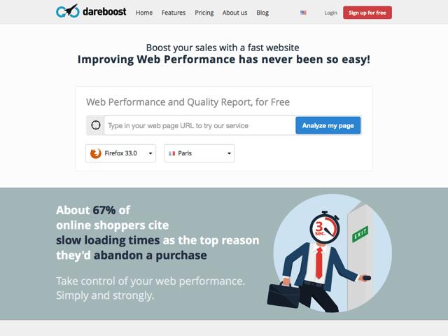 DareBoost 線上分析網站效能,協助最佳化改善網頁品質