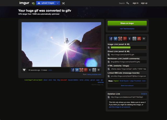 Imgur 推全新 Video to GIF 製作工具,線上將影片轉 GIF 動畫上傳免空