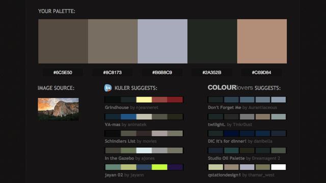 Pictaculous 線上相片色彩分析工具,上傳圖片立即轉換色碼
