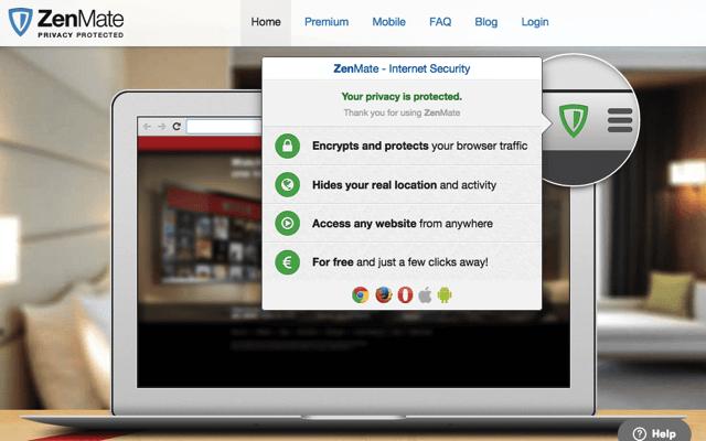 ZenMate 免費 VPN 連線工具,支援美國、香港等五個國家 IP 伺服器