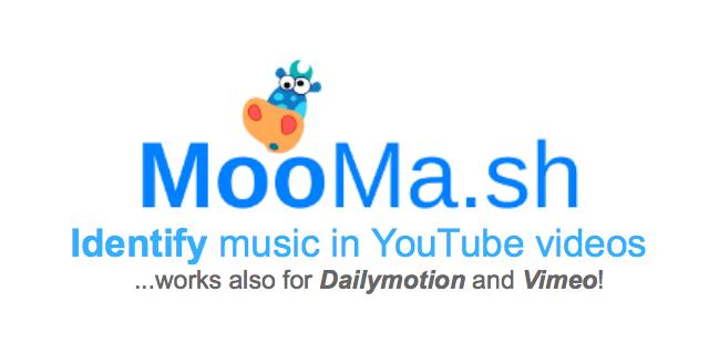 MooMash 線上 YouTube 影片音樂歌曲辨識工具,貼上網址快速找歌 via @freegroup