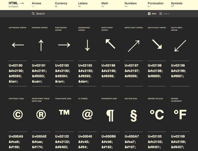 HTML Arrows
