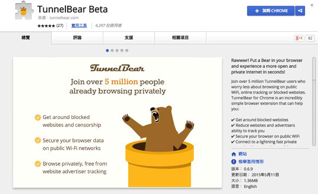 TunnelBear for Chrome