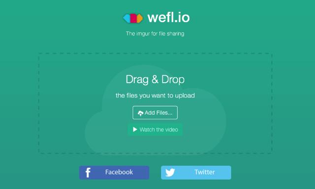 Weflio 號稱免空界 Imgur,無單檔大小、容量限制,可批次打包下載檔案