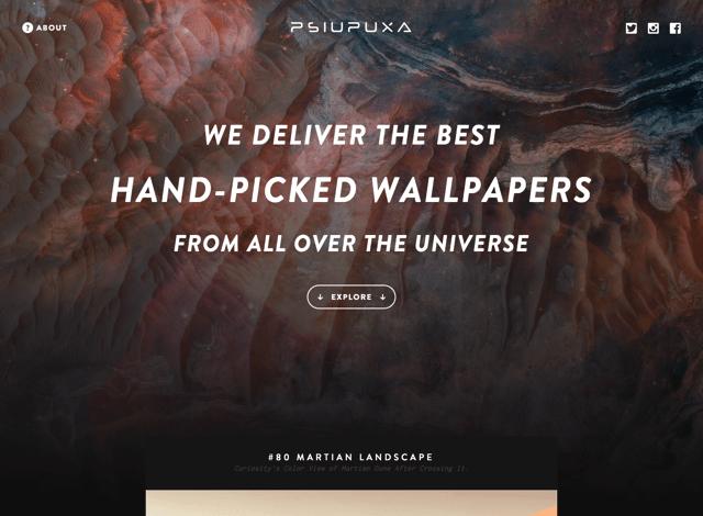 Psiu Puxa 來自宇宙的奇幻美景,桌面、平板手機多種尺寸免費桌布下載