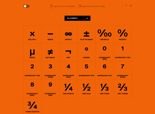 Symbol.Guide 特殊符號檢索工具,了解常用符號的輸入方式、說明和適用情境