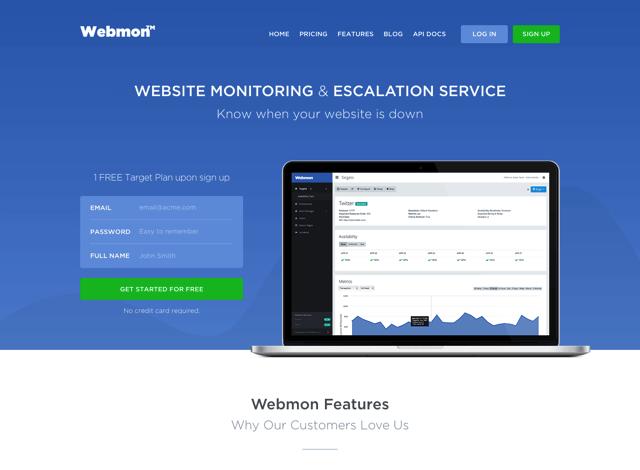 Webmon 免費伺服器監測服務,支援 HTTP、DNS、ICMP、FTP、SMTP 和 TCP 協定