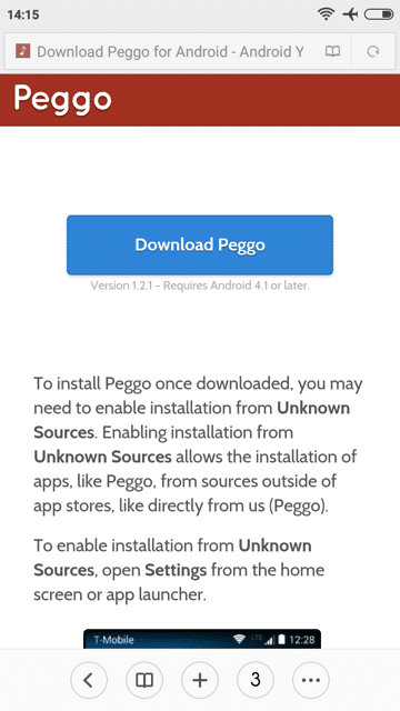 Peggo for Android 手機下載 YouTube 影片錄音轉檔 MP3 格式教學